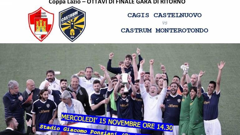 Coppa Lazio: ottavi di finale gara di ritorno Cagis Castelnuovo – Castrum Monterotondo