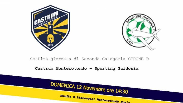 Settima giornata: Castrum Monterotondo – Sporting Guidonia