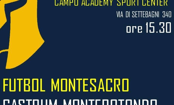11ma giornata: Futbol Montesacro – Castrum Monterotondo
