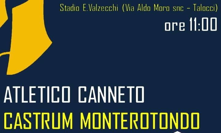 15ma giornata | Atletico Canneto – Castrum Monterotondo
